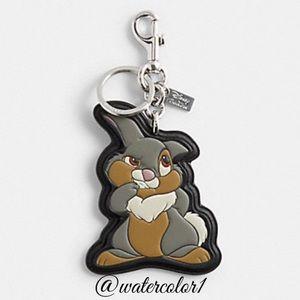 🆕 Disney x Coach Thumper Bag Charm & Key Fob